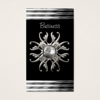 Business Card Black Silver