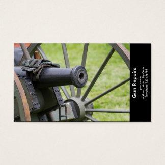 Business card blank for gun makers or gun repairer