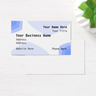 Business Card - Blue Angles