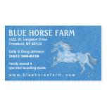 Business Card - Blue Backround White Horse