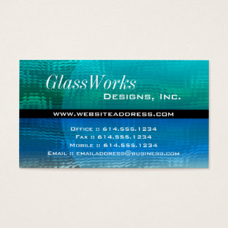 Business Card :: Blue & Green Glass Modern