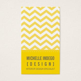 BUSINESS CARD bold trendy chevron stripes yellow