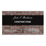 Business Card Brick Wall Construction