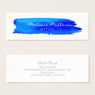 Business Card -  Brushstroke Blue