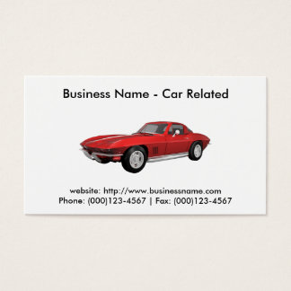 Corvette business cards business card printing zazzle ca for Corvette business cards