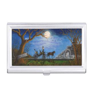 Business card case, Halloween wedding theme Business Card Holder