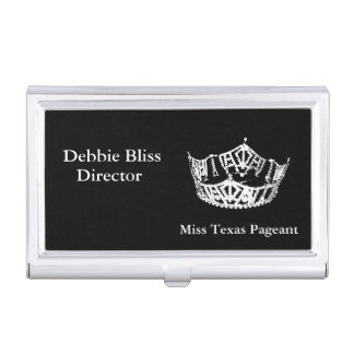 Business Card Case-Pageant Crown Business Card Cases