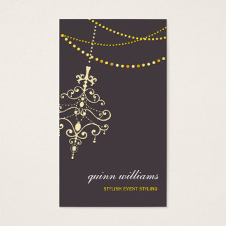 BUSINESS CARD :: chandelier + lights 2P