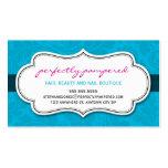 BUSINESS CARD classy flourish aqua blue black