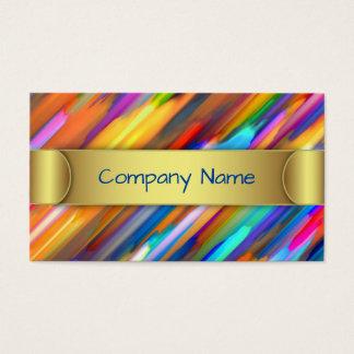 Business Card Colorful digital art splashing G391