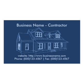 Business Card: Contractor / Construction Pack Of Standard Business Cards