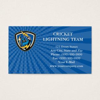 Business card Cricket Player Lightning Bat Crest R