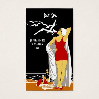 Business Card Day Spa Beauty Salon Diva retro 2