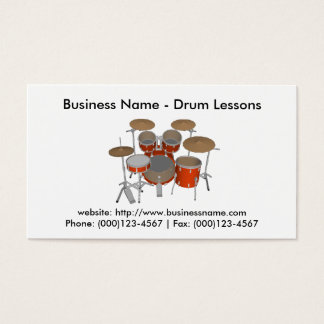 Business Card: Drum Lessons Business Card