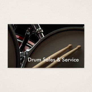 Business Card: Drum Sales & Service Business Card