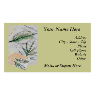 Business Card Egyptian Sage, Your Name Here, Ad...