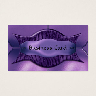 Business Card Elegant African Purple Metal