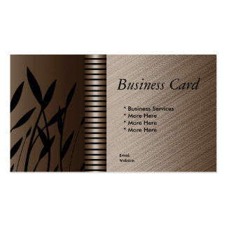 Business Card Elegant Brown Sepia Black Stripe Flo Business Card Templates