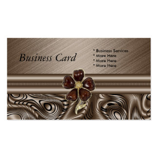 Business Card Elegant  Brown Sepia Floral Jewel Business Card Templates