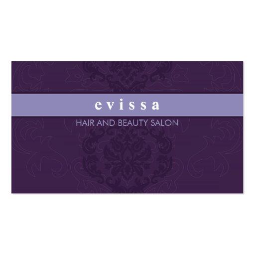 BUSINESS CARD elegant finesse lilac purple
