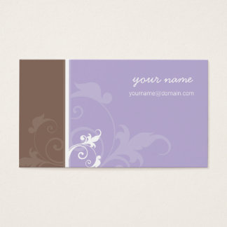 BUSINESS CARD elegant organic verve