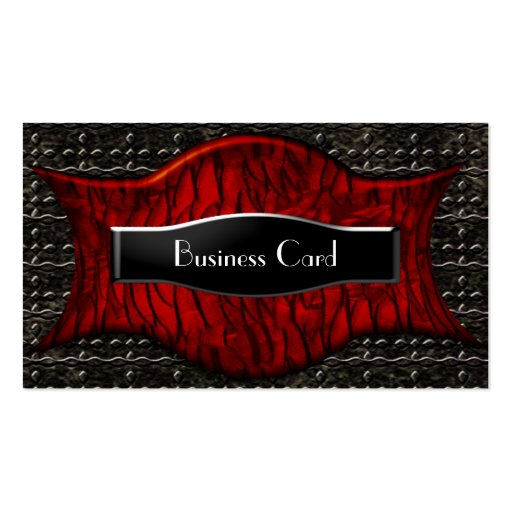 Business Card Exotic African Black Red Metal Business Cards