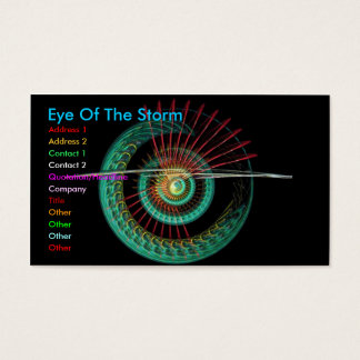 Business Card Eye Of The Storm