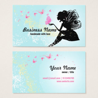 business card - fairy, butterfly, fantastic