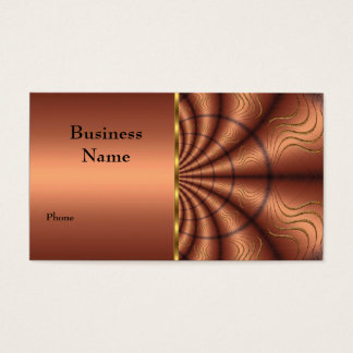 Business Card Faux Fabric Copper