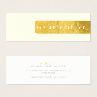 Business Card - Foil Label Off White