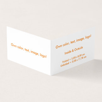 Business Card Folded Book H uni White - own Color