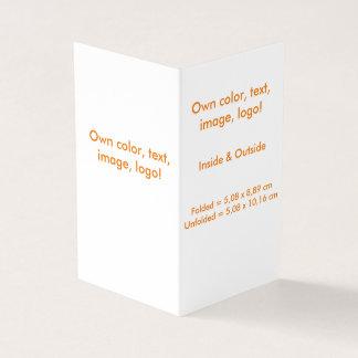 Business Card Folded Book V uni White - own Color