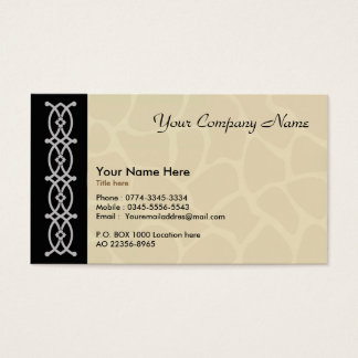 Business card for artist