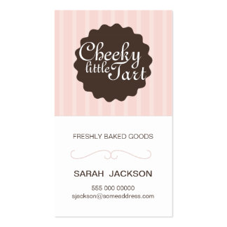 Business card for bakery / homemade goods / small