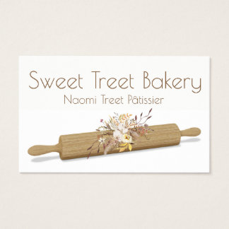 Business Card for Cake Shop Bakery Pastry Shop