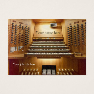 Business card for church musicians - organ console
