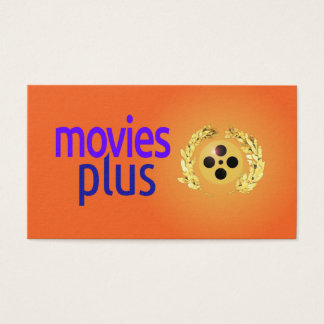 Business card for Movies Plus filmmakers