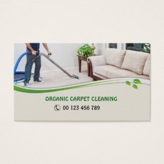 Business card  for Organic Carpet Cleaners