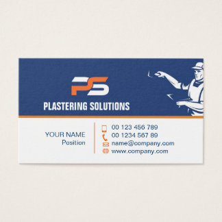business card for plastering specialist