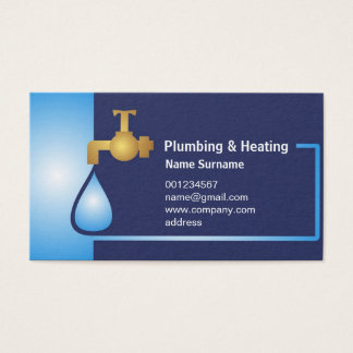 Business card for Plumbing & heating master