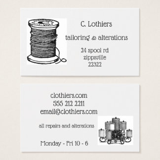 business card for sewing business
