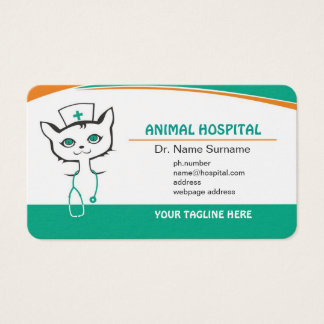 business card for veterinary doctor or clinic
