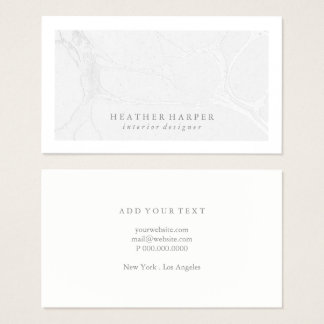 Business Card - Frame Marble Grey Silver