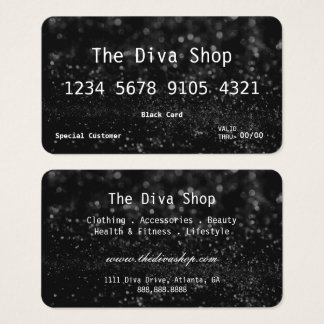 Business Card | Glitter Credit Card Black