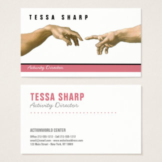 Business Card God Adam Custom Template Art