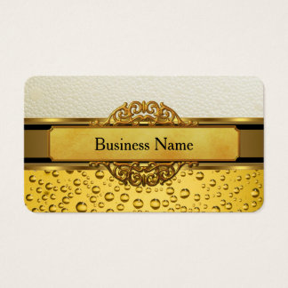 Business Card Gold Amber Beer Ale