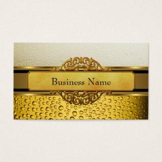 Business Card Gold Amber Beer Ale black