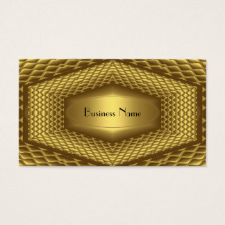 Business Card Gold Metal