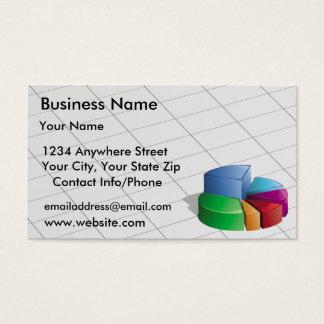 Business Card Green Pie Chart