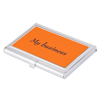 Business Card Holder Orange